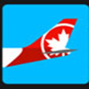 Air Canada tail of a plane .