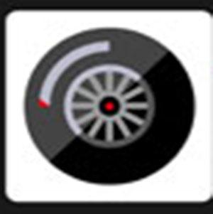 A black wheel .