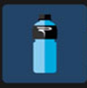 A blue bottle .